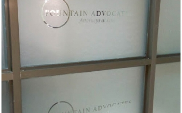 Fountain Advocates Office Branding